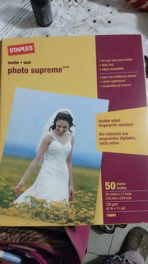 New Staples matte photo supreme 8.5x11 photo paper for Sale in South Attleboro, MA