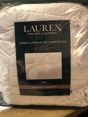 RL King Down Alternative Comforter for Sale in St. Petersburg, FL