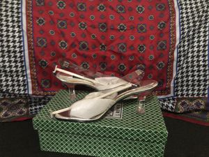 Transparent see through heels size 9 1/2 for Sale in Roselle, NJ