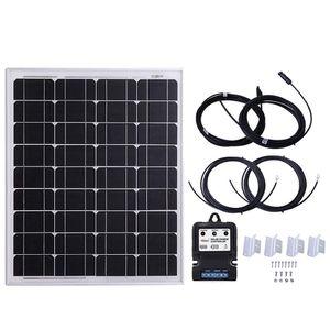 KOMAES 50 Watt 50W 12 Volt Monocrystalline Solar Panel, Flexible Solar Starter Kit for RV, Boats, Roof for Sale in Ontario, CA