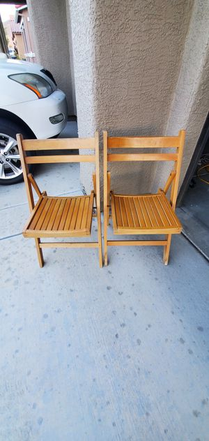 Wooden folding chairs for Sale in Henderson, NV