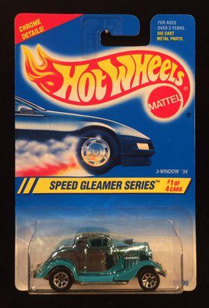 Hot Wheels Speed Gleamer Series 3-Window '34 Ford • Chrome Green • 7 Spoke Wheels for Sale in Fort Worth, TX