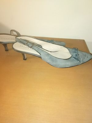 Vintage grey pointy-toe slingback sandals shoes size 7.5 for Sale in Takoma Park, MD