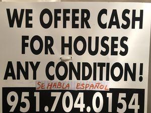 We buy homes cash. Compramos casas al contado. for Sale in Poway, CA