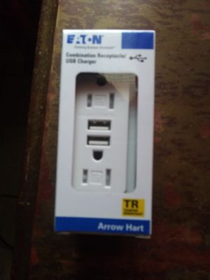 NEW COMBO ELECTRIC PLUG WITH TWO USB CHARGER for Sale in Houston, TX