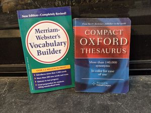 WORD NERD BUNDLE for $2!! Vocabulary Builder and Compact Thesaurus. Very Good Condition. Great for students and writers! for Sale in Manassas, VA