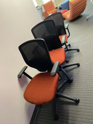 3 Office Chairs (Red/Orange) for Sale in San Jose, CA