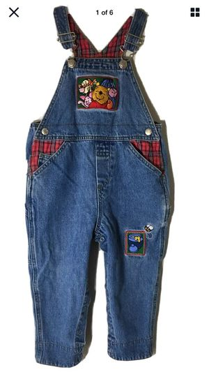 Disney Store Bib Overalls 24 mo Winnie The Pooh Tigger Eeyore Piglet Xmas Denim for Sale in Auburn, MA