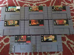 8 Super Nintendo games for Sale in Austin, TX
