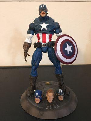 Marvel Legends Ultimate Captain America face off custom modded for Sale in Wichita, KS