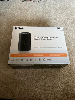 D-link wireless AC 1200 dual band cloud router for Sale in Mercer Island, WA