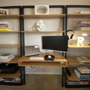 Leaning Ladder Desk & 2 Shelves for Sale in Castro Valley, CA