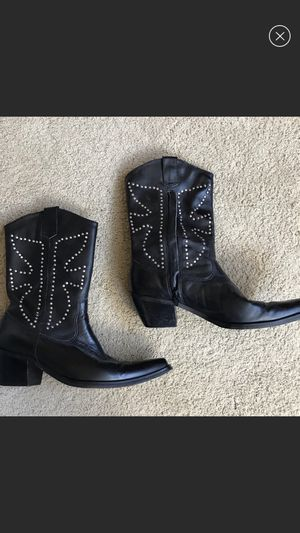Boots Blacks Two Lips Boots size 8. WORN ONCE for Sale in Fairfax, VA