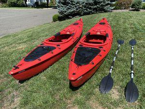 12' Sit-In Red Kayaks x 2 for Sale in Edison, NJ