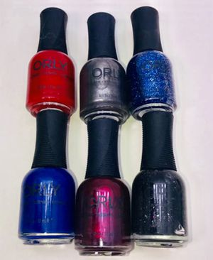 """ORLY* brand """"A LITTLE BIT GOTHIC!"""" Professional nail polish 💅 6 full sized bottles gift set! NEW! for Sale in Carrollton, TX"""