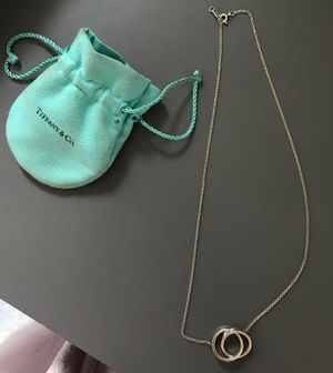 Tiffany and co 2 ring linked necklace for Sale in Martinez, CA