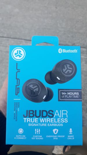 JLab jbuds air true wireless earbuds - Black - NEW NEVER USED for Sale in San Diego, CA