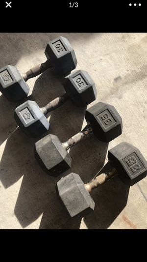 Rubber dumbbells weight for Sale in Rosemead, CA