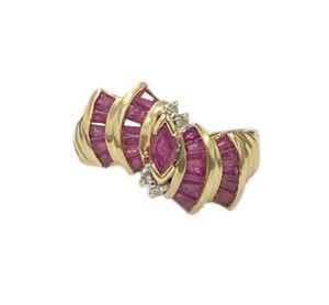 14K Yellow Gold Diamond & Ruby Ring for Sale in Buena Park, CA