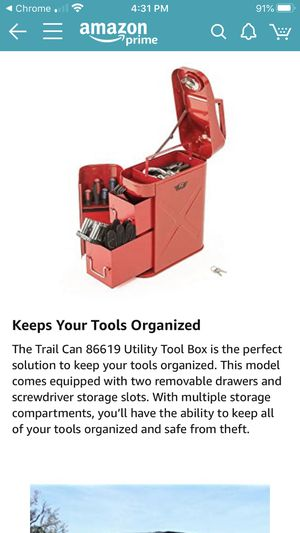Jerry Can tool box Rampage for Sale in Vancouver, WA