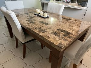 Marble top dining table for Sale in Fort Lauderdale, FL