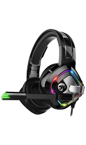 ZIUMIER Gaming Headset Xbox One Headset, PS4 Headset with Noise Canceling Mic and RGB Light, PC Headset with Bass Surround Sound, Over Ear Headphones for Sale in Queens, NY