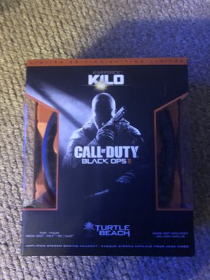 Turtle Beach Headset Black Ops 2 limited edition Wired PS3/Xbox 360/ PC/ MAC for Sale in Glendale, AZ