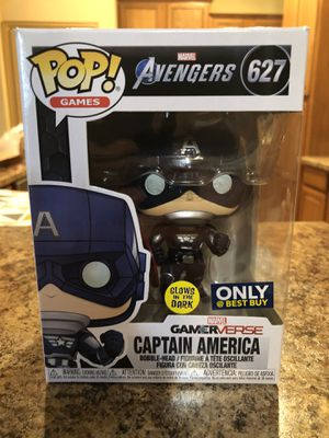Captain America Gamerverse Marvel Avengers - Best Buy Exclusive Funko Pop - GLOWS for Sale in Cedar Hill, TX