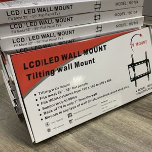 TV WALL MOUNT BRACKET FITS UP TO 55 INCH AND SMALLER- BLACK FRIDAY DEAL! VALID THRU 12/6-NO LIMIT for Sale in Tempe, AZ