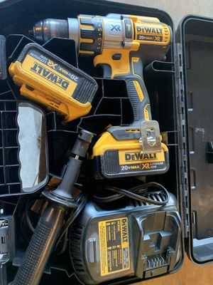 DEWALT 20-Volt MAX XR 3 Speed Brushless Hammer Drill with (2) Batteries 4.0ah, Charger and Hard Case - like new condition for Sale in Spring, TX