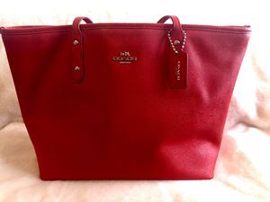 Authentic Red Coach Purse for Sale in Las Vegas, NV