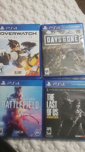 Barely used ps4 games for Sale in Dale City, VA