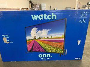 """New ONN UHD TV! 50"""" inch Open box w/ warranty 8 4 for Sale in Rosemead, CA"""