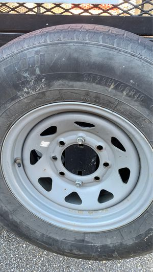 Two trailer tires heavy duty from dump trailer great for spares for Sale in Batsto, NJ