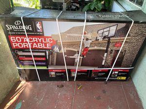 """60"""" Acrylic portable basketball hoop for Sale in Huntington Park, CA"""