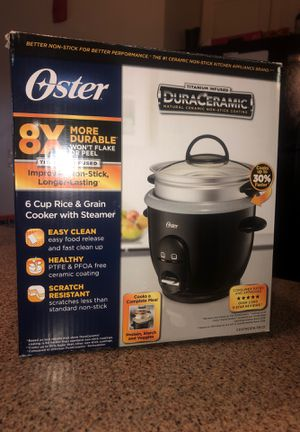 Rice & Grain Cooker with Steamer, 6 cup, Oster for Sale in Appleton, WI