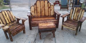 All new RUSTIC OUTDOOR FURNITURE for Sale in Bakersfield, CA