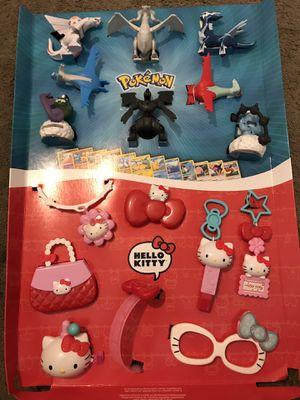 Pokemon/Hello Kitty Mcdonald Toys. for Sale in Fresno, CA