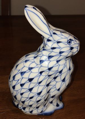 BEAUTIFUL HAND PAINTED HEREND STYLE PORCELAIN RABBIT for Sale for sale  The Bronx, NY