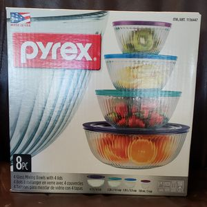 Pyrex Mixing Bowl 8pcs set $30 for Sale in University Place, WA