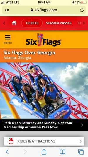 6flags over Georgia tickets for sale for Sale in Vero Beach, FL