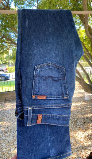 7 jeans original hem for 5'3 size 26 for Sale in Reedley, CA