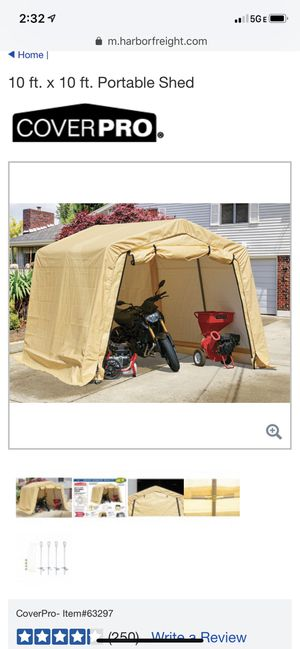 Cover pro portable shed for Sale in Chicago, IL