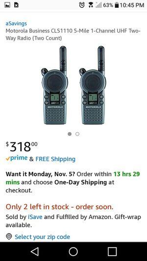 Motorola business walkie talkie for Sale in Delaware, OH