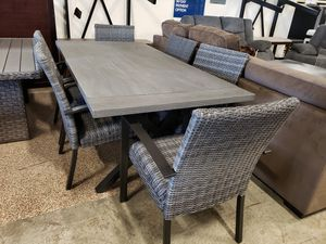 New 7pc outdoor patio furniture dining room table set tax included delivery available for Sale in Hayward, CA