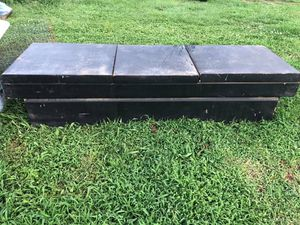 Older Heavy Style Metal Truck Tool Box (No Keys) Fits Full Size Truck for Sale in Columbia, TN