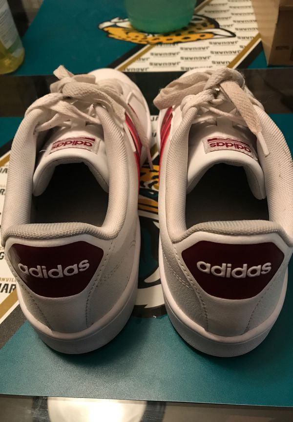 ORIGINAL ADIDAS CLOUDFOAM ORTHOLITE RED AND WHITE SHOES WOMEN 10