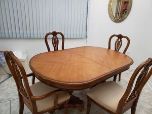 Solid pecan table and hutch for Sale in Hardy, VA