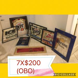 Great opportunity!! 7 mirrors. 7 Mirrors... Ideal for decorating , bar or man cave. $200 OR WILL SELL SEPARATE - PRICES VARY OR YOU CAN MAKE OFFER ON for Sale in Tamarac, FL