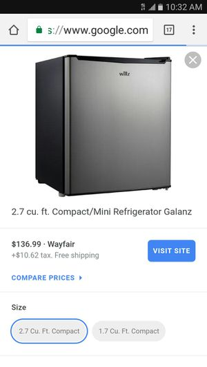 Galanz 2.7 Stainless mini Fridge for Sale in Union City, GA